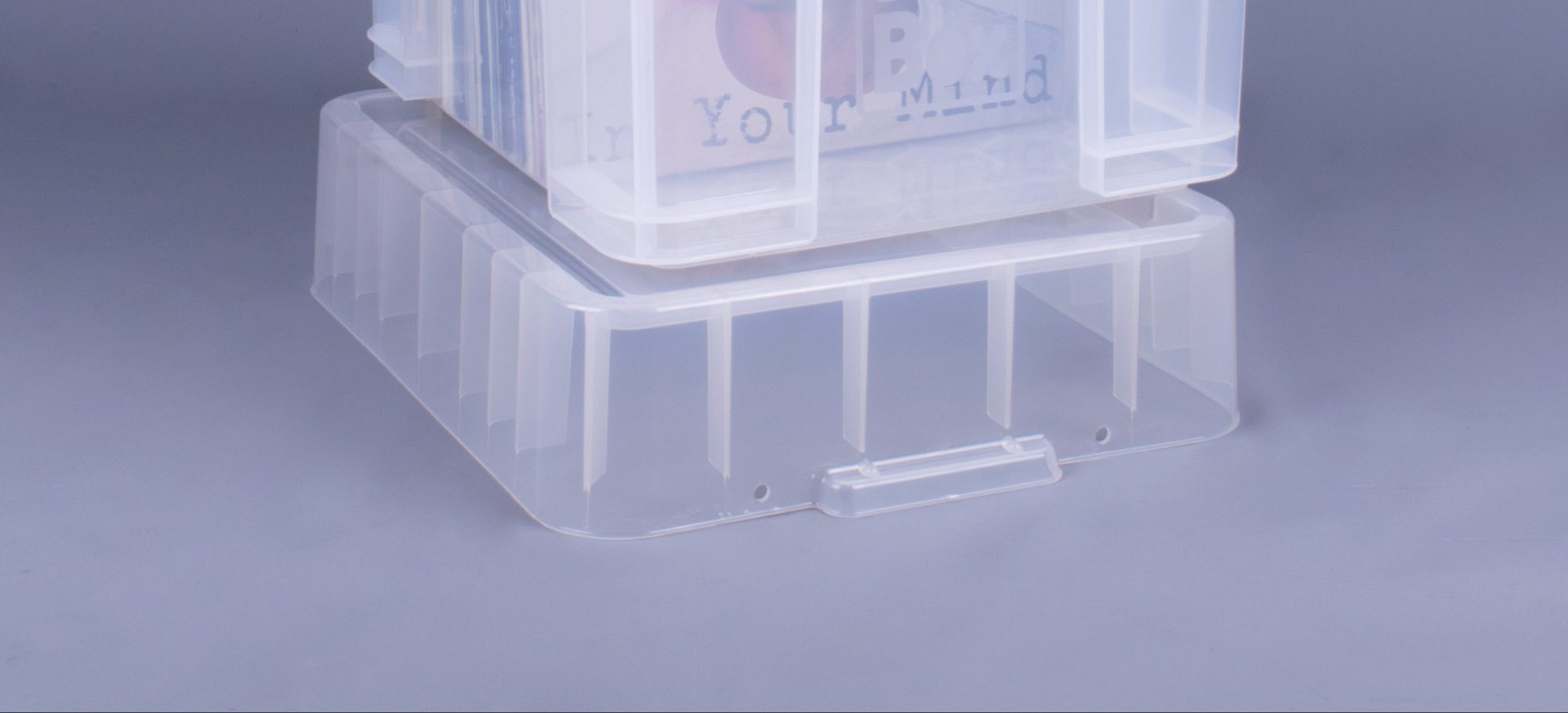 Picture of: Rub 35xxl Opbevarings Box Hojt Lag Til 90 Stk 12 Lp Klar Plast Renvinyl