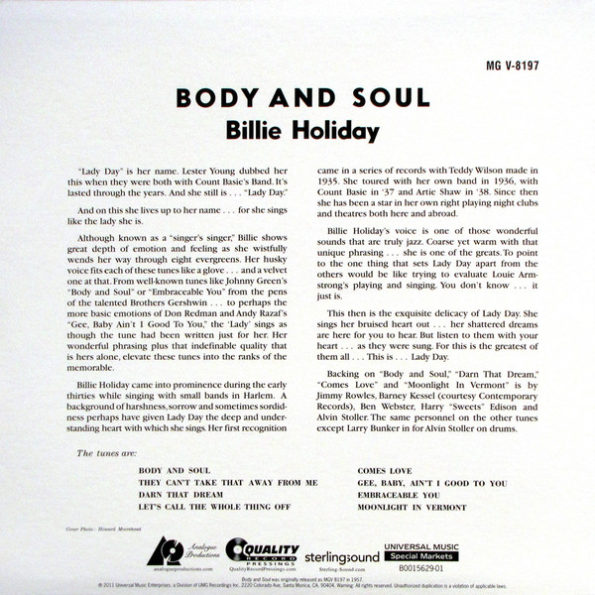 Billie Holiday Body and Soul1